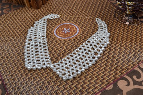 Fashion Artificial Pearl Collar Necklace Beaded Fake Collar-white