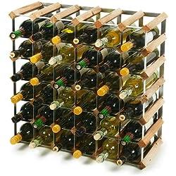 Traditional Wooden Wine Racks - Pine (6x6 Hole [42 Bottles])