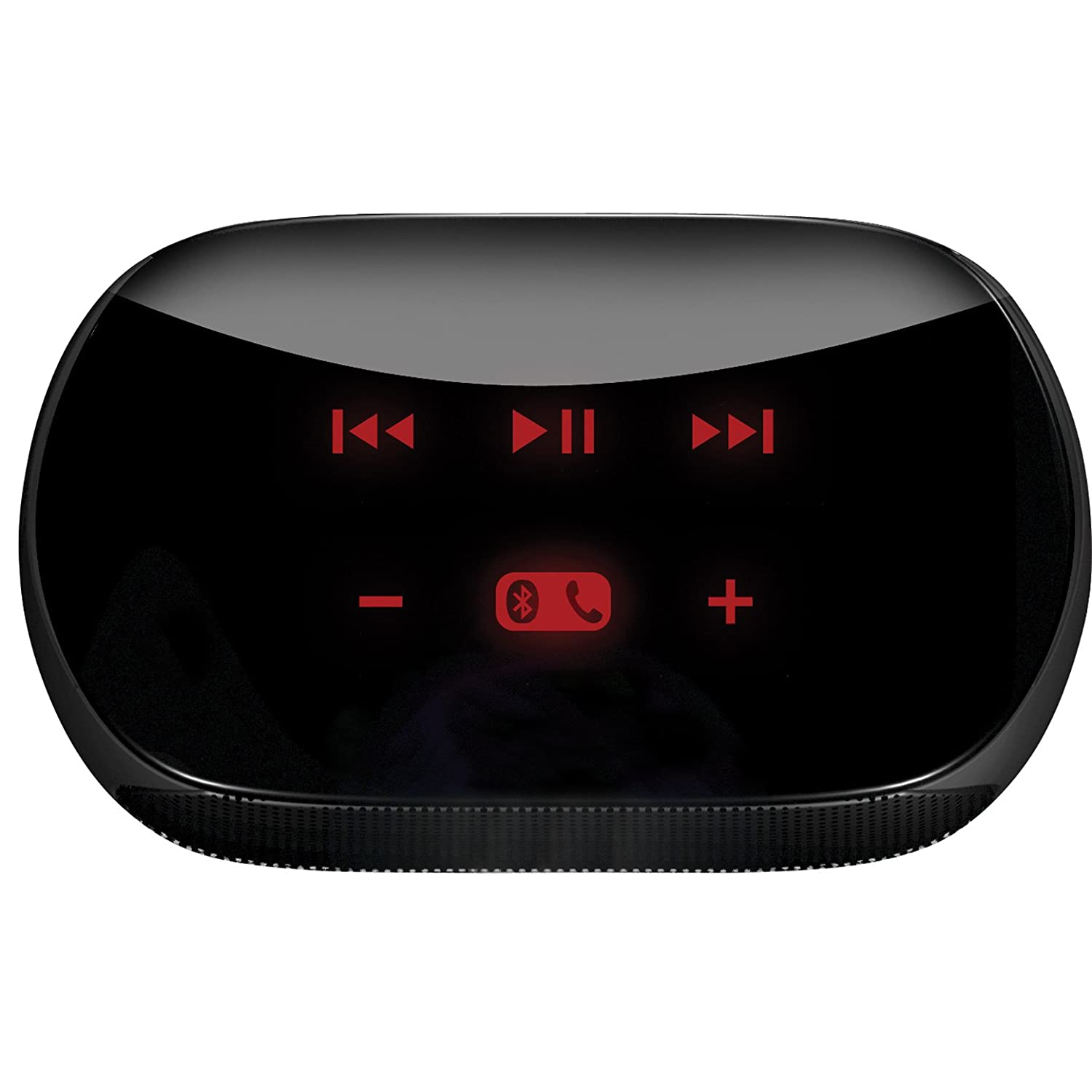 top view with red glowing buttons