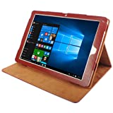 PU Leather Protective Case Full Body Folding Stand Design for Chuwi Hi12 (Brown) (Color: Brown)