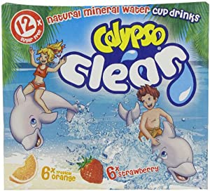 Calypso Clear Tropical Orange and Strawberry Flavoured Mineral Water 12 x 185 ml (Pack of 4, Total 48 Cartons)