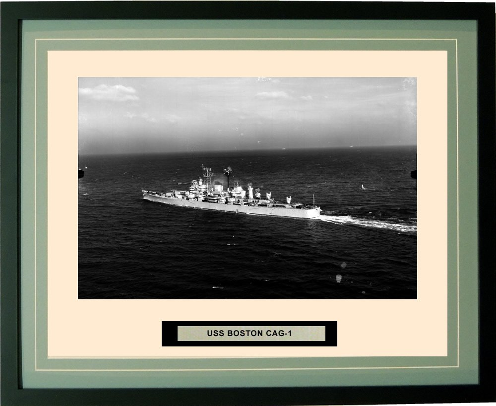 Navy Emporium - USS Boston CAG-1 - Framed - Photo - Engraved Ship Name - Double Mat - Photograph - 16 X 20 - 40CAG1 торшер leds c4 emporium 25 1858 i1 55