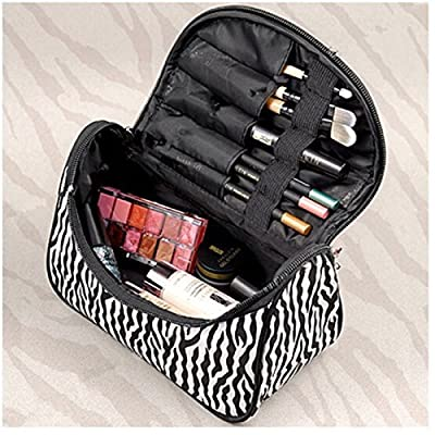 Velishy(TM) Portable Zebra Toiletry Bag Makeup Case