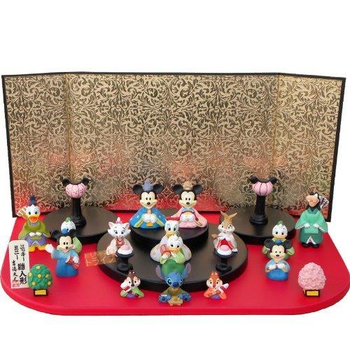 DISNY ミッキー・ミニー段飾り15人(雛人形・ひな人形)