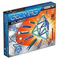 Geomag Color 40-Piece Magnetic Construction Building Toy