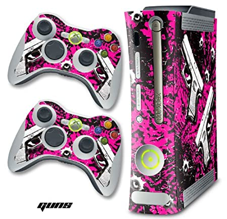 XBOX 360 Console Glock Pink Design Decal Skin - System & Remote Controllers - Guns Pink