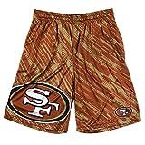 NFL San Francisco 49ers Youth Boys 8-20 Print Shorts, Medium (10/12), Red
