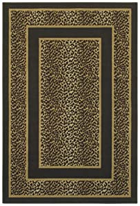 Shaw Living Woven Expression Gold Collection, Safari Skin Area Rug, 3-Feet 11-Inch by 5-Feet 3-Inch, Chocolate