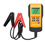 Digital 12V Car Battery Tester Automotive Battery Load Tester and Analyzer of Battery Life Percentage,Voltage, Resistance and CCA Value (Color: Yellow)