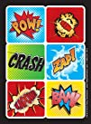 Superhero Comics Sticker Sheets 4
