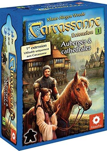 Asmodée - CARC03N - Jeu de Stratégie - Carcassonne Extension - Auberges et Cathédrales