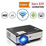 Wifi Wireless Video Projector LED LCD 3500 Lumens, Full HD 1080P LED Home Theater Movie Projectors for iPhone iPad With HDMI USB Headphone Jack TV Speaker & Multimedia Smart Beamer Indoor Outdoor (Color: WiFi Projector 3500 Lumens, Tamaño: 3500 lumens wireless wifi projector)