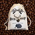 Chocolate Buck (Deer) Poop (Milk Chocolate Covered Raisins) in Vintage Cotton Poop Bag (Buck, Elk, Reindeer & Bigfoot available) from ChocolateWeapons