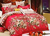 WRAP 100% COTTON DOUBLE BED DUVET SET (1 BEDSHEET 2 PILLOW COVERS & 1 DUVET COVER) CNSD-07