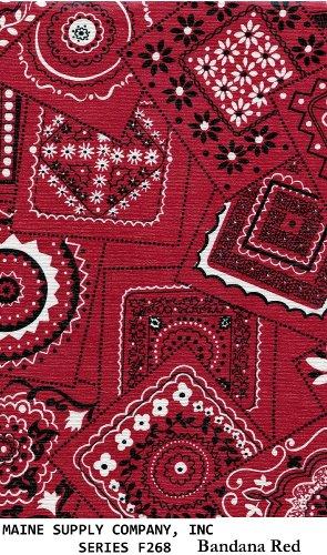 Red Bandana Tablecloth Red Bandana Red Bandana