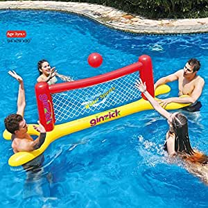 Ginzick super fun floating volleyball game - Amazon inflatable swimming pool toys ...