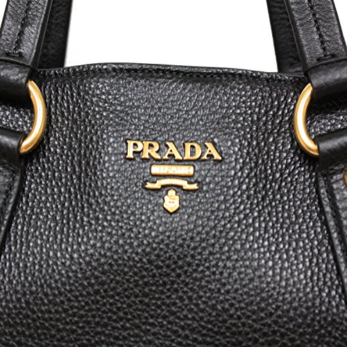 discount up to 60% largest selection of new high Prada Vitello Daino Nero Pebbled Leather Large Shopping Tote ...