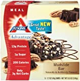 Atkins  Advantage Marshmallow Mudslide Bars - 5 Count Box (Pack of 6)