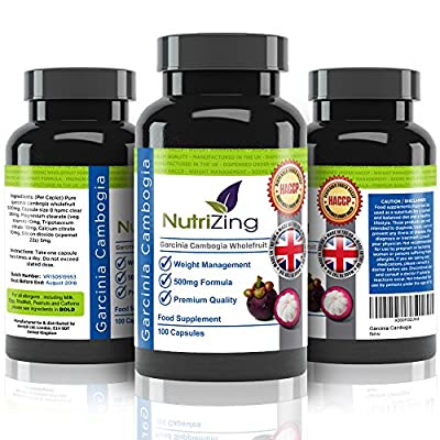 ? NutriZing Garcinia Cambogia ~ 100% Pure & Natural Formula ~ Made in the UK ~ 100 Capsules With Premium Strength (most competitors only offer 60 or 90) ~ Miracle Supplement Mentioned on Dr. Oz ~ Natural Vegetarian Appetite & Hunger Suppressant For Men &