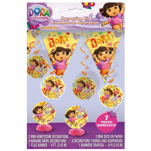 Dora the Explorer Party Decoration Kit, 7pc - 1