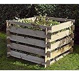 Komposter 100x100x60 cm mit Holz-Stecksystem von Gartenpirat®