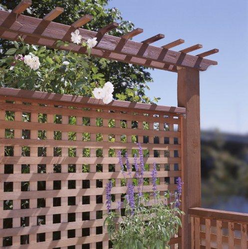 1 premium garden square treated hem fir wood lattice 4x8 for Wood lattice trellis