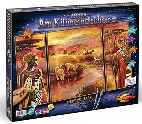 Schipper 609260438 - Malen nach Zahlen - Afrika am Kilimandscharo, 50x80 cm