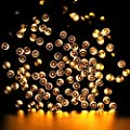 1 Pcs Preeminent Popular 200x LED Solar Power Nightlight Yard Bright Christmas Light String Fairy Colors Yellow