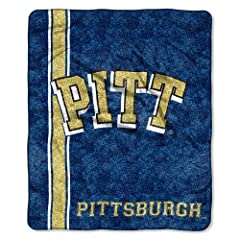 Buy NCAA Pittsburgh Panthers 50-Inch-by-60-Inch Sherpa on Sherpa Throw Blanket Jersey Design by Northwest
