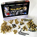 PRO BOLT FULL MONTY BOLT KIT FITS HONDA CBR600F 2001-2004 GOLD