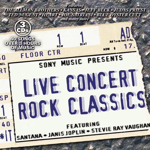 Live Concert Rock Classics by Various Artists, Santana, Janis Joplin, Stevie Ray Vaughan and Allman Brothers