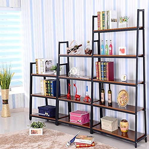 Magshion* Metal Home Decorate Bookcase 2 Colors Choose 3,4,5 Tier Shelf (Black, 4 Shelf) 2 Shelf 5 Shelf Bookcase