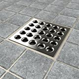 Ebbe E4404 Square Shower Drain Grate, Brushed Nickel