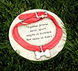 Dog Collar Pet Memorial Grave Site Marker Stone Garden Outdoor Decor