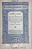 img - for King Lear (Riverside Literature Series, 184) book / textbook / text book