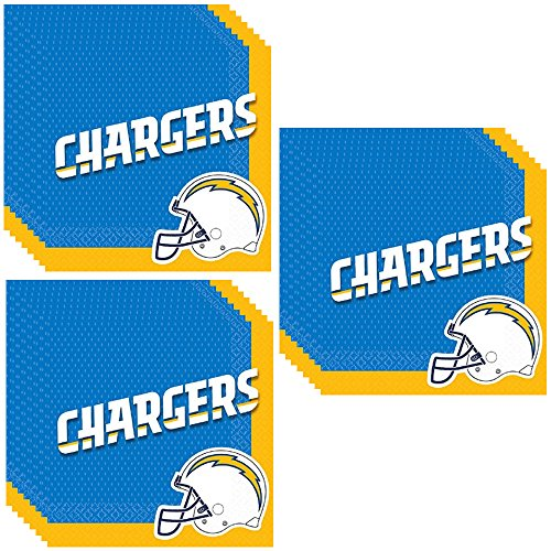 San Diego Chargers Party Luncheon Napkins - 48 Pieces