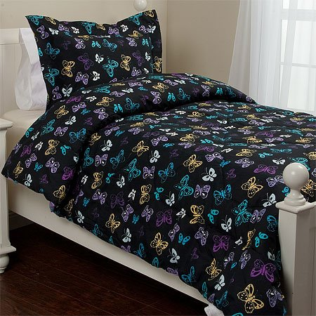 Butterfly Comforter Set, Twin