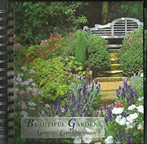 BEAUTIFUL GARDENS GREETING CARD ORGANIZER AND ADDRESS BOOK- 24 CARDS AND ENVELOPS