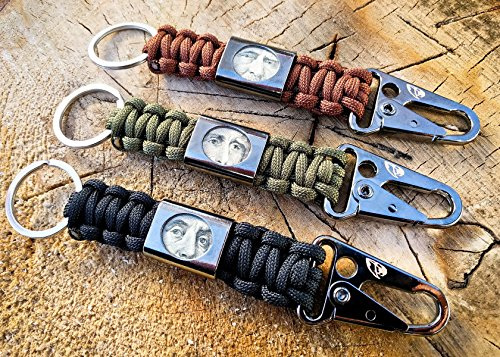 liberty clip paracord keychain bottle opener money stash key ring black od green and. Black Bedroom Furniture Sets. Home Design Ideas