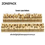 ZONEPACK Copper Brass Stamping Flexible Alphabet Number Symbol Character Stamp Mold Die, Letter Holder, Positioning Plate DIY for Hot Foil Stamping Machine (Lowercase) (Color: Lowercase)
