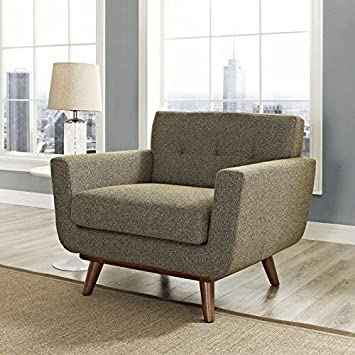 Modway EEI-1178-OAT Engage Upholstered Armchair in Oatmeal