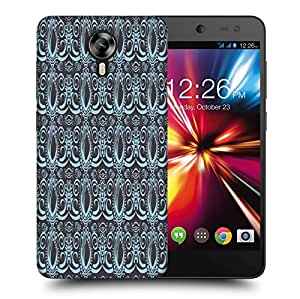 Snoogg Abstract Grey Pattern Printed Protective Phone Back Case Cover For Micromax Canvas Nitro 4G