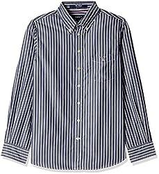 Gant Boys' Shirt (GBSEF0002_Harbour Navy_XS)