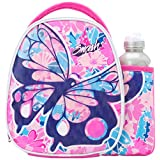 Smash 500 ml Polyester Chrysalis Lunch Bag and Bottle Set of 1 Pink