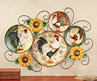 Country Rooster Wall Art Decor