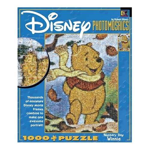Cheap Fun Buffalo Games Disney Photomosaic Winnie the Pooh Blustery Day 1000 Piece Jigsaw Puzzle (B000BKXCZE)