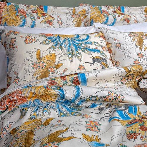 Oriental bedding for Tattoo bedding queen