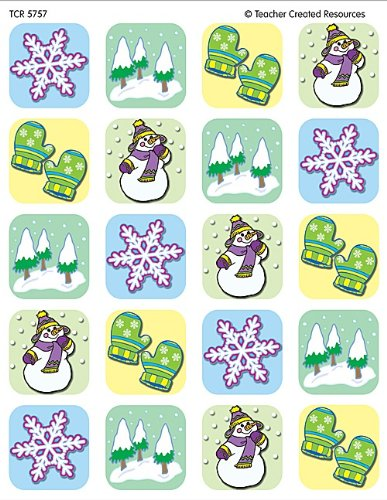 Teacher Created Resources Winter Season Stickers, Multi Color (5757)