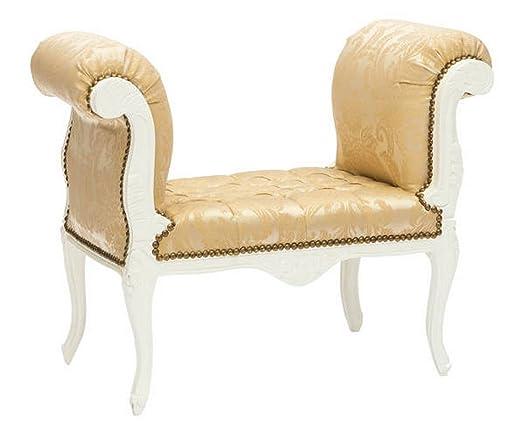 Divanetto barocco bianco e oro