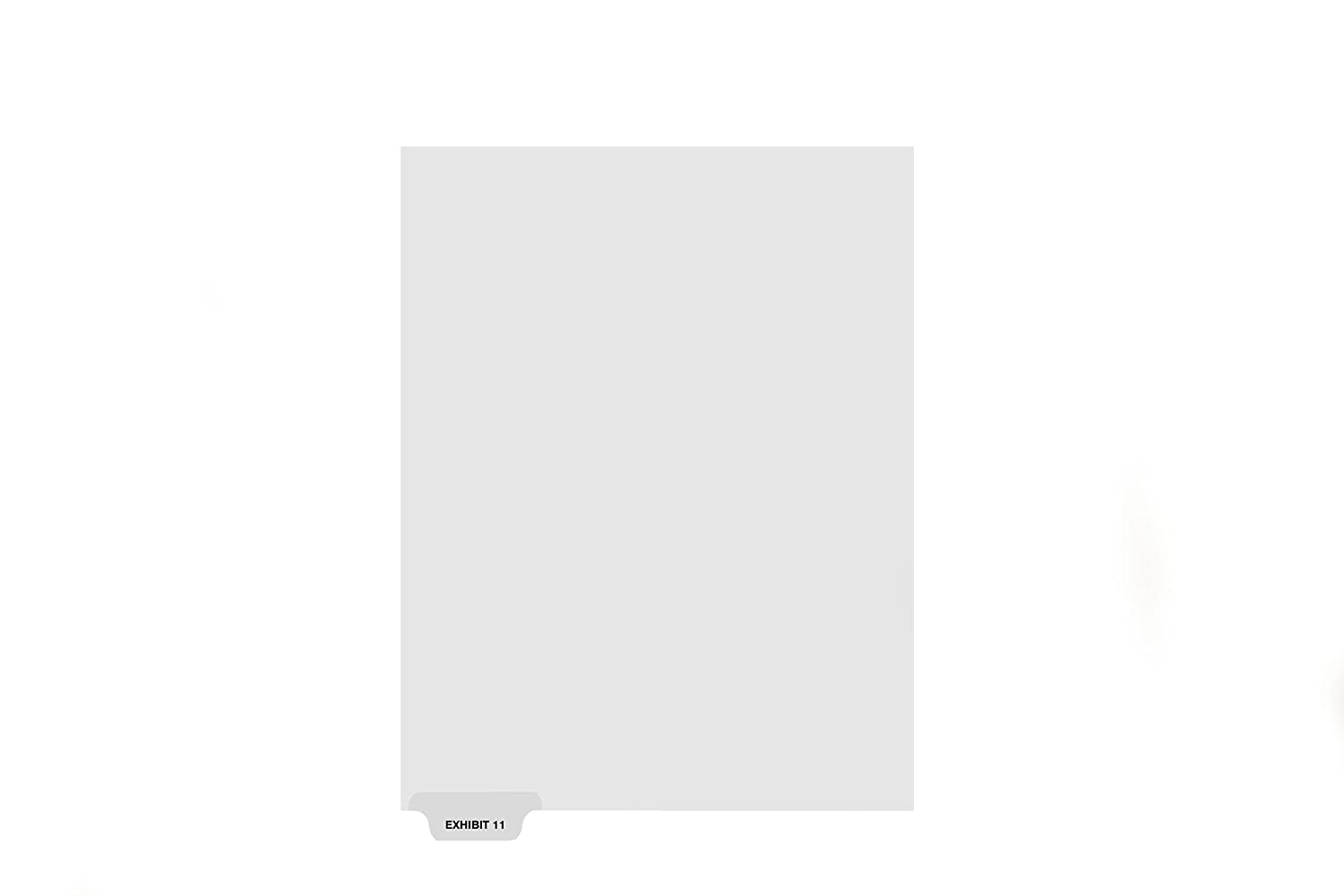 kleer-fax-letter-size-individual-exhibit-number-index-dividers-bottom-tab-15th-cut-25-sheetspack-white-exhibit-11-84151